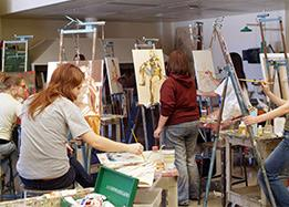 Studio Art Minor Students Painting