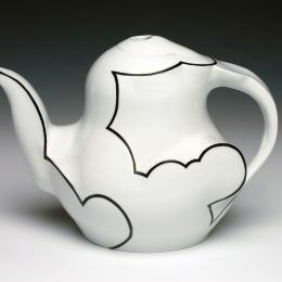 "Cloud Teapot, 2015, Porcelain, 7""x9""x5"""