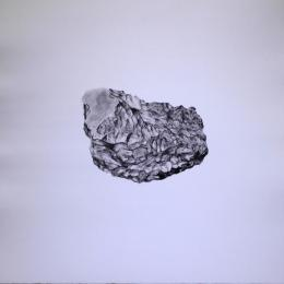 """Drum Mountain (Lapis)"" 2015. Stone Lithograph. 22""x22"""