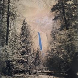 Lower Yosemite Falls. 2016. Daguerreotype 12 x 10 inches