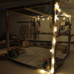 Tool Shack. 2011. Mixed media. Dimensions variable.