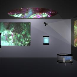 """SETI"" Series. Machines that create abstract video displays. 2011. http://hilaryharp.com/project/seti/"