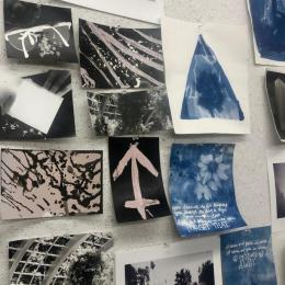 Student work in the summer camp, Darkroom Photography