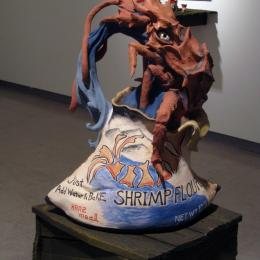 """Non Decay Shrimp Flour"" 2013. Ceramics. 19"" x 16"" x 14"""