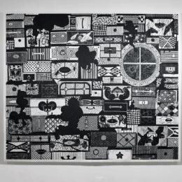 """Drawers"" 2011, Woodcut, 60x72"""
