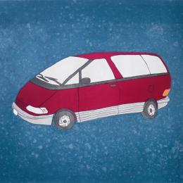 """Mom's Car, '97"" Stone Lithograph. 2013"