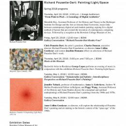 Pousette-Dart Bowdoin College Spring 2018 Program Flyer Featuring Meredith Hoy