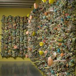 Synthetic Reality 2008. Porcelain, foam, polyfil and wood panels. 12 x 28 x 26 ft.