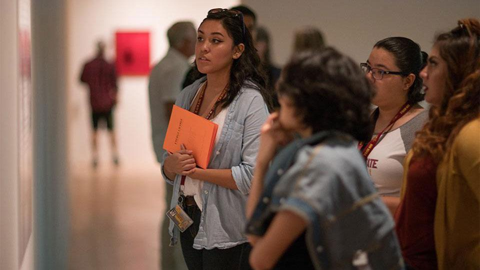 Female students at the ASU Art Museum LACMA