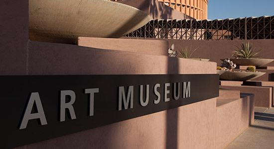 ASU Art Museum Sign